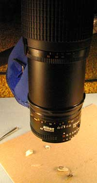 Side view of lens assembly