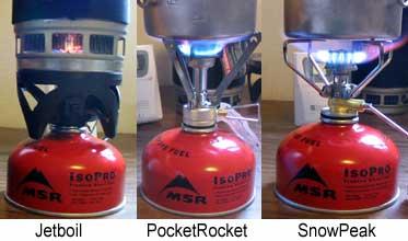 Test Stoves Burning