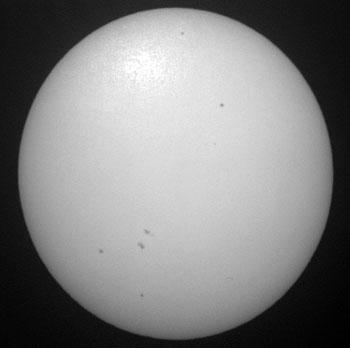 Sun with spots