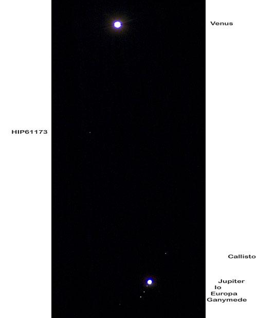 Venus and Jupiter w/moons