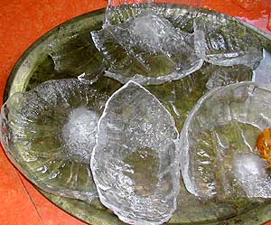 Ice shells from pumpkins